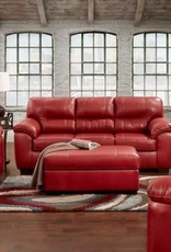 Affordable Furniture Austin Red Sofa