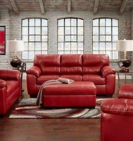 Affordable Furniture Austin Red Sofa