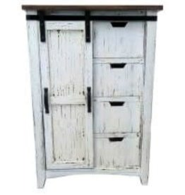 Texas Rustic MO-ARM 14 Wardrobe Drawer/Barn Door Antique White