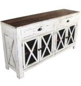 Texas Rustic MO-COM 140 Dresser Chicken Mesh 2 Drawer 4 Door