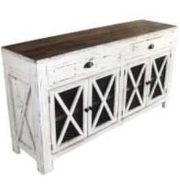 Texas Rustic MO-COM 140 Dresser Chicken Mesh 2 Drawer 4 Door