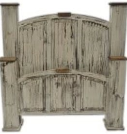 Texas Rustic MO-CAM 40E Queen Mansion Bed Antique White