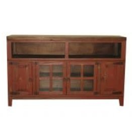 "Texas Rustic MR-COM 8G Hacienda 72"" TV Stand Antique Red"