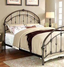 FOA Queen Carta Iron Bed