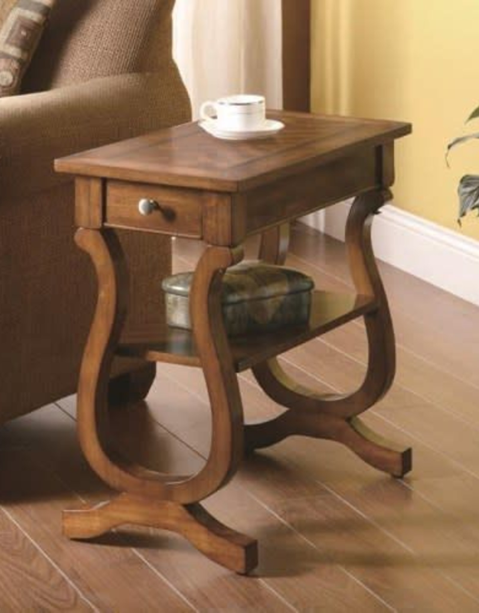 Coaster Cherry Side Table
