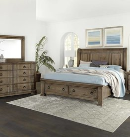 Vaughan-Basset Rustic Hill Gray King Sleigh Storage Bed