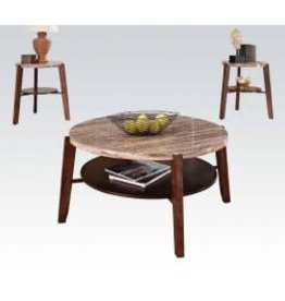 Acme Round Marble End Table