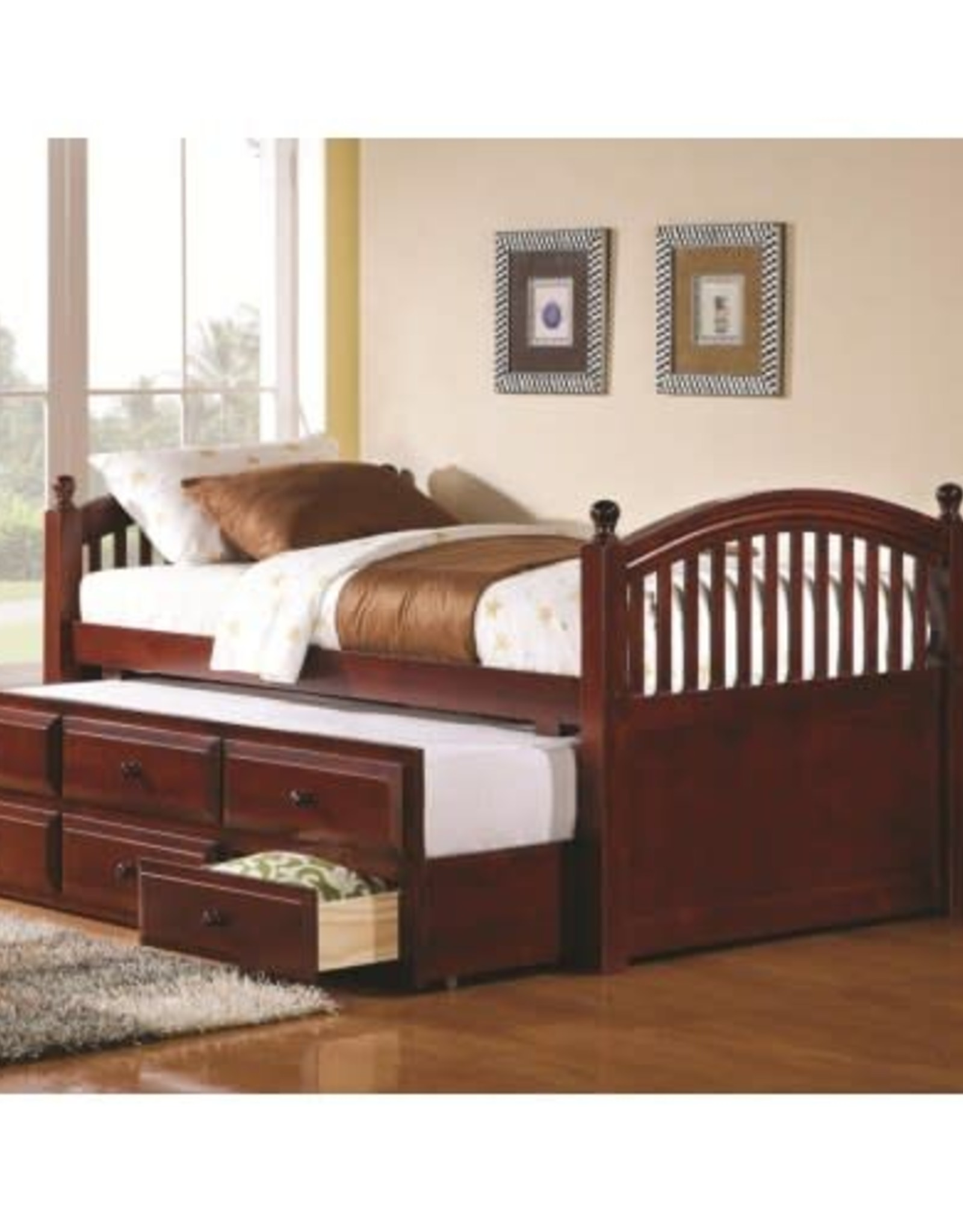 Coaster Chestnut Daybed with Trundle