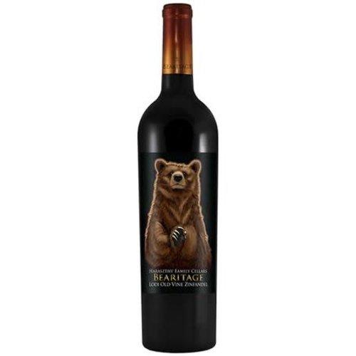 Haraszthy Bearitage Lodi 2016 Old Vine Zinfandel ABV: 13.8% 750 mL