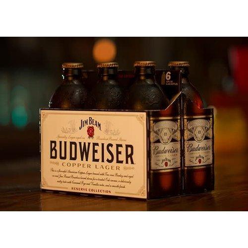 Budweiser Jim Beam Reserve Copper Lager ABV: 6.2% Bottle 12 fl oz 6-Pack