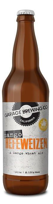 Garage Brewing Mango Hefeweizen ABV: 5.5% 22 fl oz