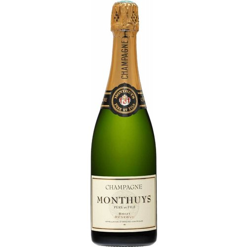 Champagne Monthuys Pere et Fils Brut Reserve ABV: 12.5% 750 mL
