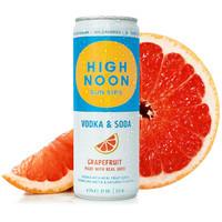 High Noon Sun Sips Vodka & Soda Grapefruit ABV: 4.5% 355 mL