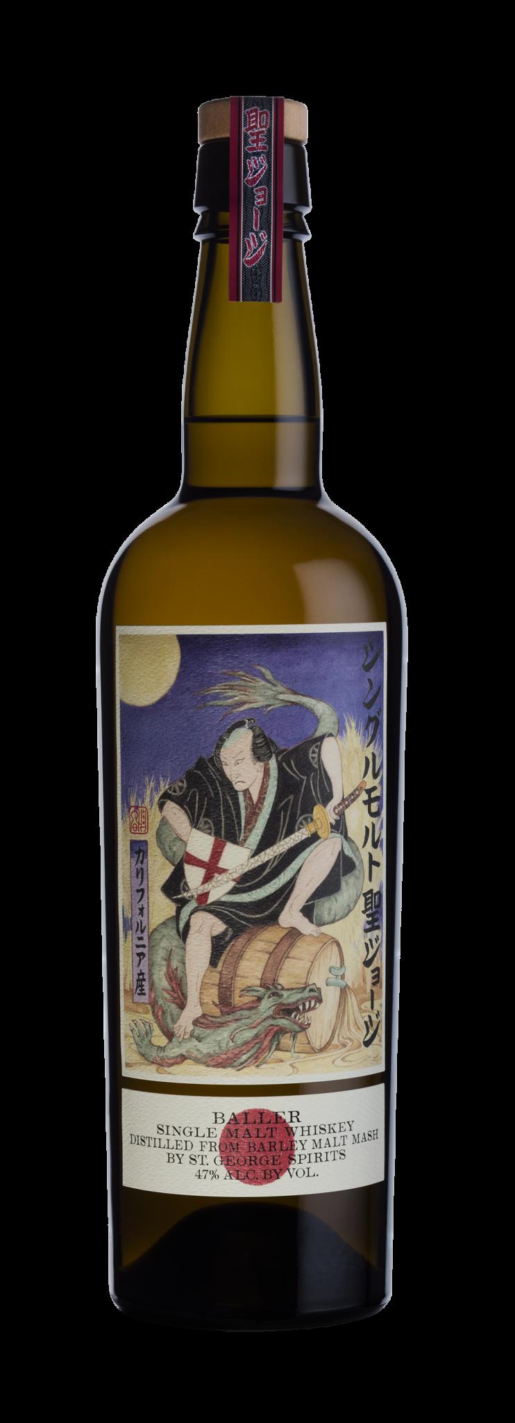 St. George Spirits Baller Single Malt Whiskey ABV: 47% 750 mL