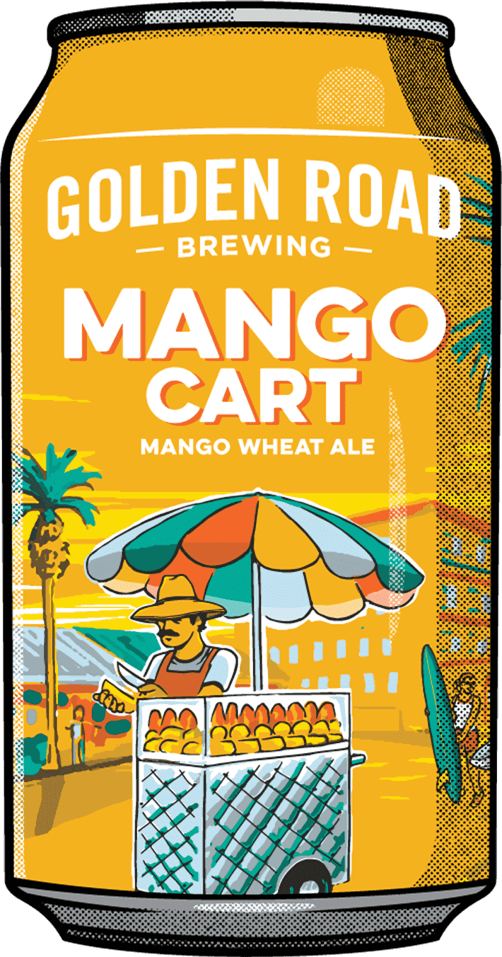 Golden Road Mango Cart ABV: 5% 12 fl oz