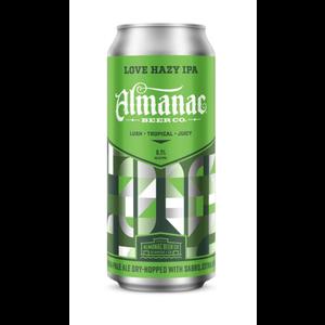 Almanac Love Hazy IPA ABV: 6.1% Can 4-pack 16 fl oz