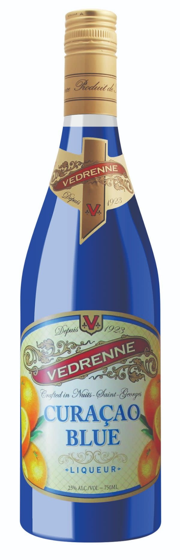 Vedrenne Blue Curacao ABV: 25% 750 mL