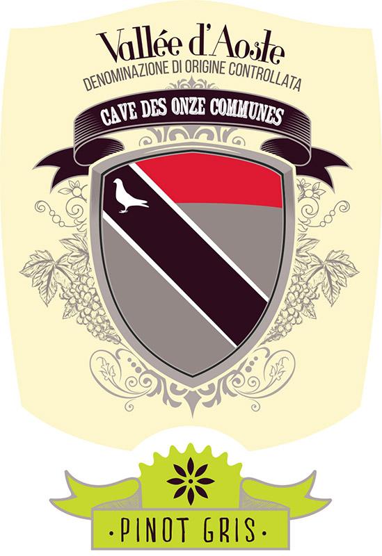 Cave des Onze Communes Vallée d'Aoste 2017 Pinot Gris ABV: 13.5% 750 mL