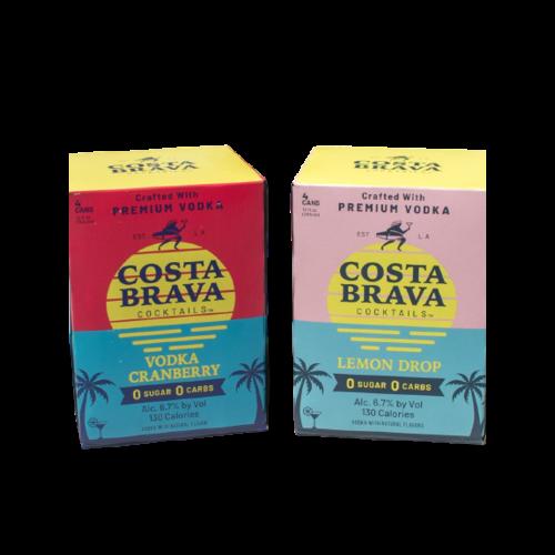 Costa Brava Vodka Cranberry ABV: 6.7% 12 fl oz 4-Pack