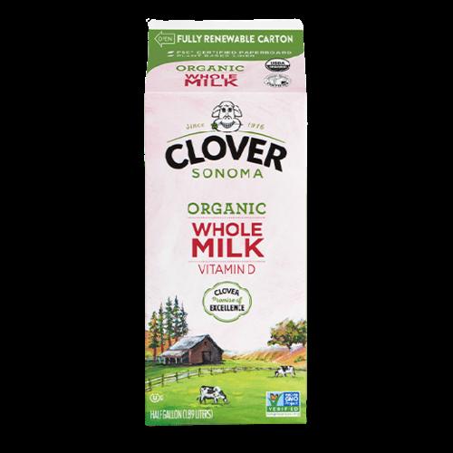 Clover Sonoma Vitamin D Milk Half Gallon
