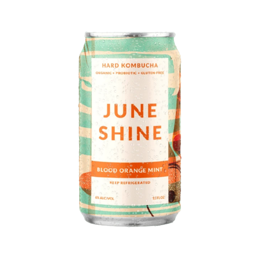 June Shine Blood Orange Mint Hard Kombucha ABV: 6% 16 fl oz