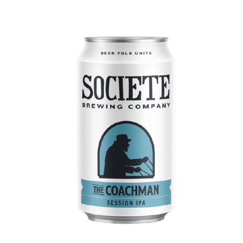 """Societe """"Coachman"""" Session IPA ABV: 4.9% Can 6-Pack"""