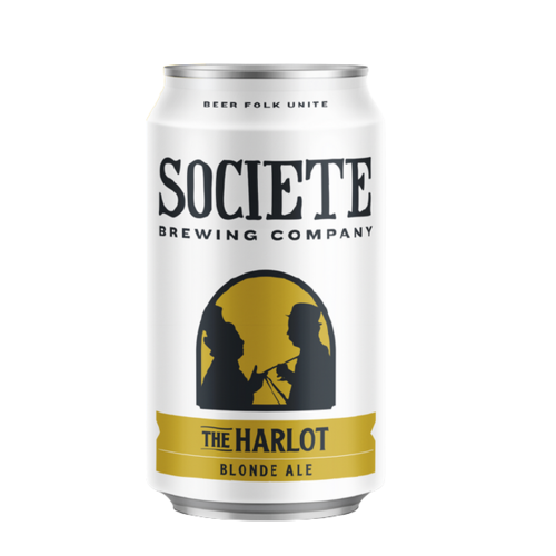 "Societe ""Harlot"" Blonde Ale ABV: 5.7% Can 12 fl oz 6-Pack"