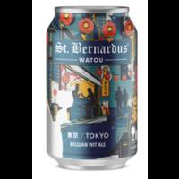 "St. Bernardus Watou ""Tokyo"" Belgian Wit Ale ABV: 6% Can 12 fl oz 4-Pack"