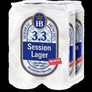 Hofbrau Session Lager ABV: 3.3% Can 16 fl oz 4-Pack