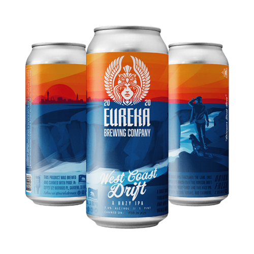 Eureka Brewing West Coast Drift IPA ABV: 8.5% 16 fl oz 4-Pack