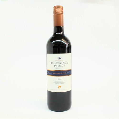 Real Compania de Vinos 2014 Tempranillo ABV: 14% 750 mL