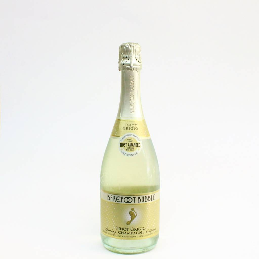 Barefoot Bubbly Pinot Grigio Champagne ABV: 9.5% 750 mL