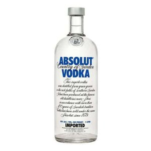 Absolut Vodka ABV: 40%