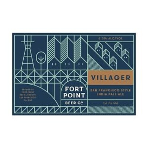 Fort Point Villager IPA ABV: 6.3% Can 12 fl oz 6-Pack