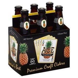 ACE Pineapple Hard Cider ABV: 5% 12 fl oz 6-Pack