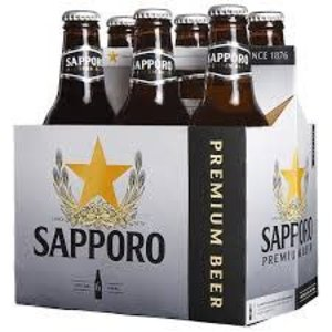 Sapporo Premium Beer ABV: 5% Bottle 12 fl oz