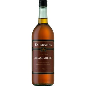 Fairbanks 2014 Cream Sherry ABV: 17% 750 mL