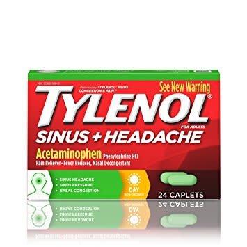 Tylenol Sinus + Headache 24 Caplets