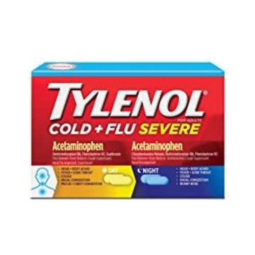 Tylenol Cold + Flu Severe 24 Caplets