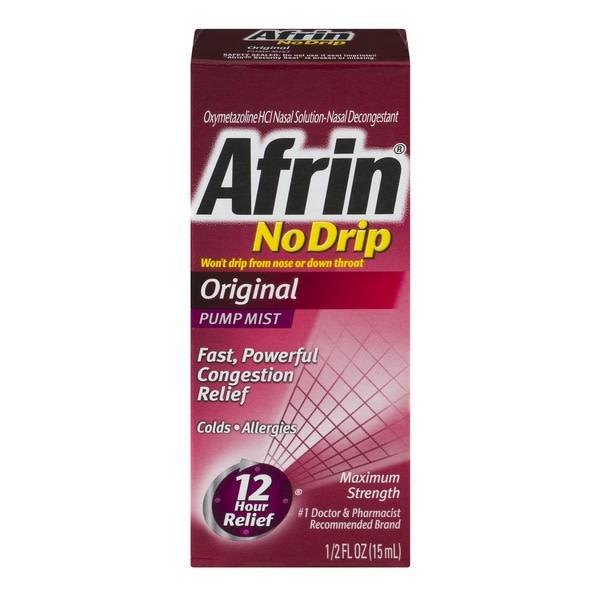 Afrin No Drip Original Congestion Relief 0.5 fl oz