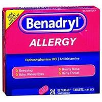Benadryl Allergy Tablets 24 ct