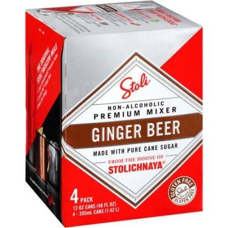 Stolichnaya Premium Ginger Beer Can 12 oz 4-Pack