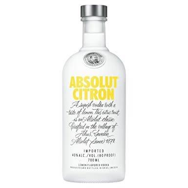 Absolut Vodka ABV: 40%