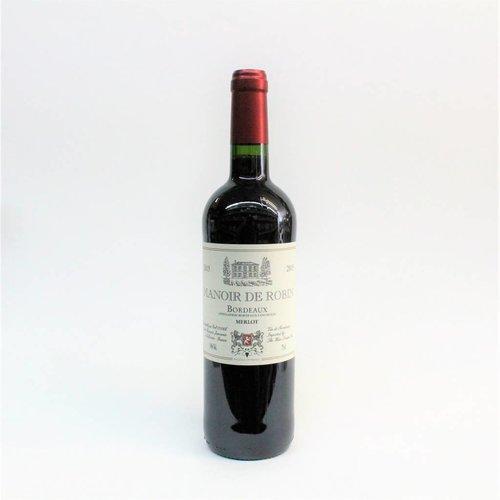 Manoir de Robin Bordeaux 2015 Merlot ABV: 14% 750 mL