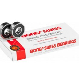 BONES BONES SWISS SKATEBOARD BEARINGS 8 PACK