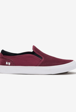 STATE FOOTWARE STATE KEYS BLACK CHERRY WHITE SLIPON SUEDE