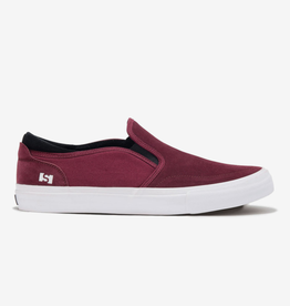 STATE FOOTWARE KEYS BLACK CHERRY/ WHITE  SLIPON SUEDE