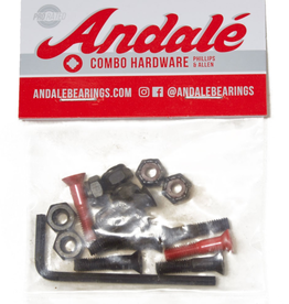 "ANDALE BEARINGS ANDALE 7/8"" RED COMBO HARDWARE"