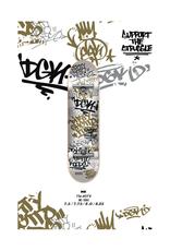 """DGK DGK - Tag White/Gold - COMPLETE SKATEBOARD - 8.0"""""""