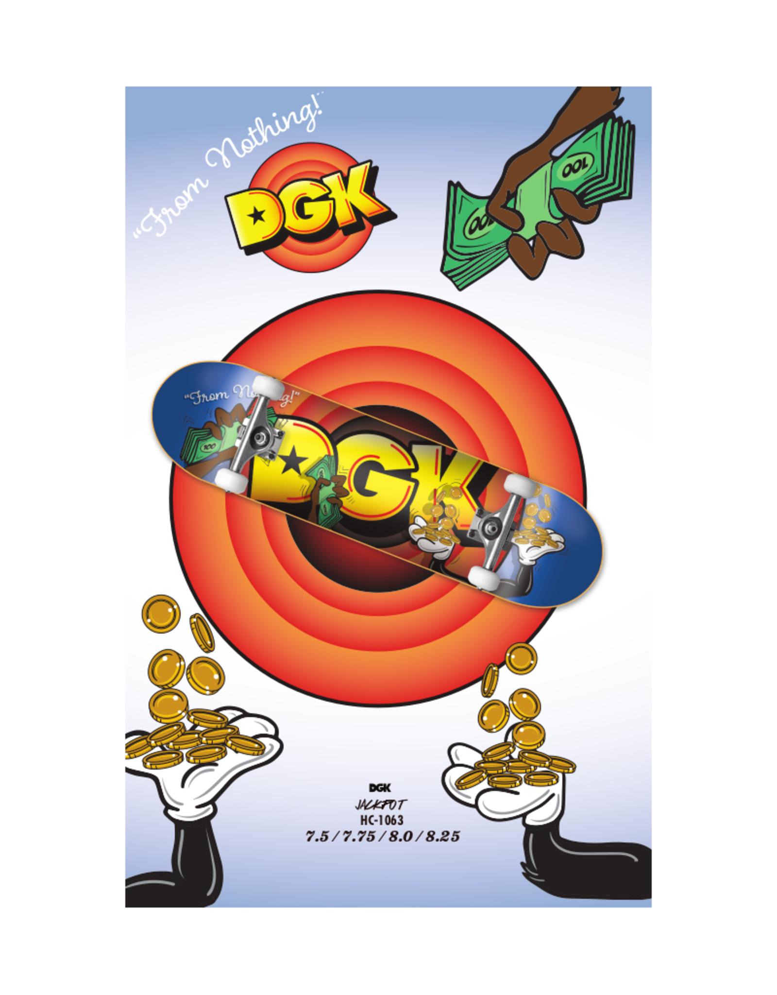 "DGK DGK - Jackpot - COMPLETE SKATEBOARD - 8.0"""